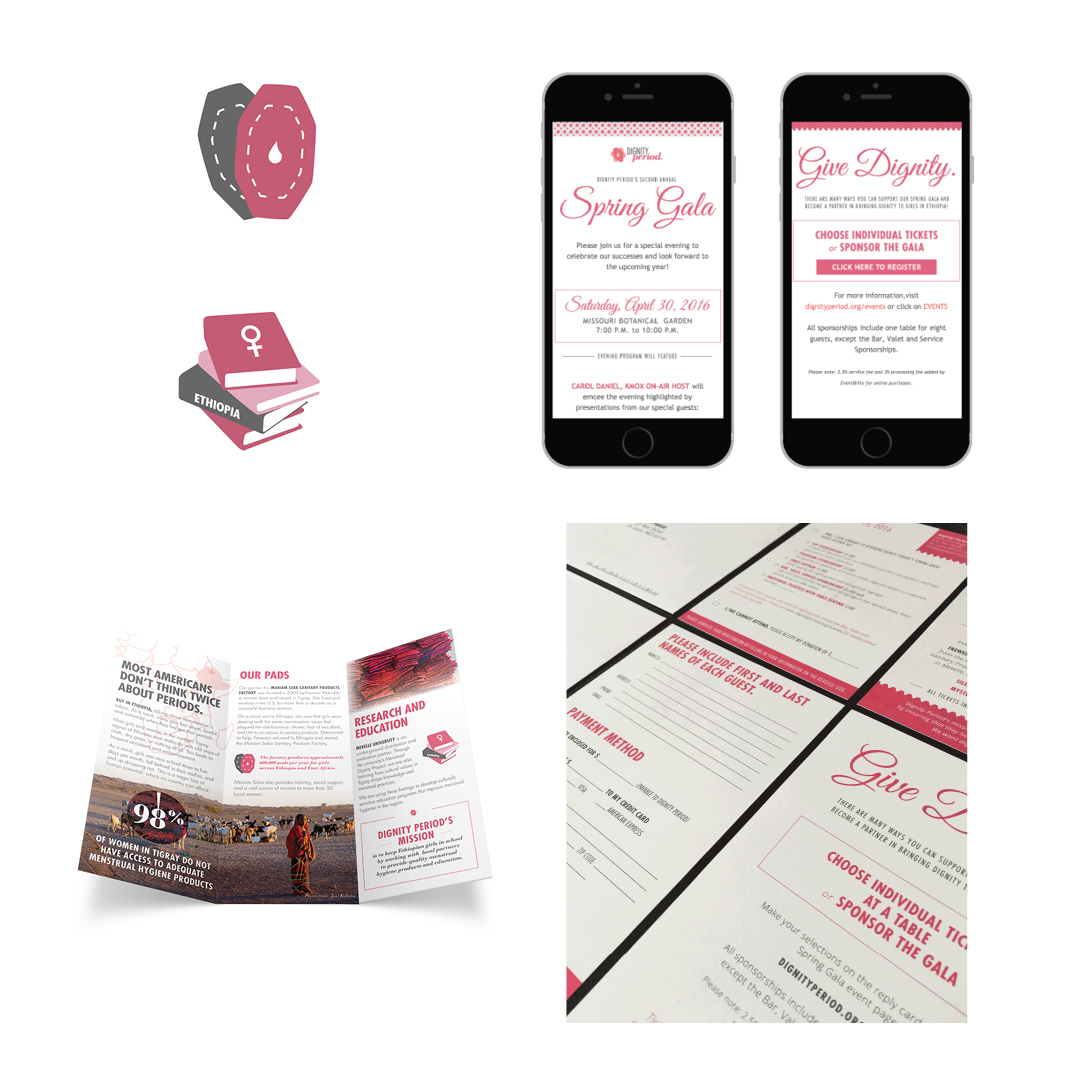dignity period brochure email design