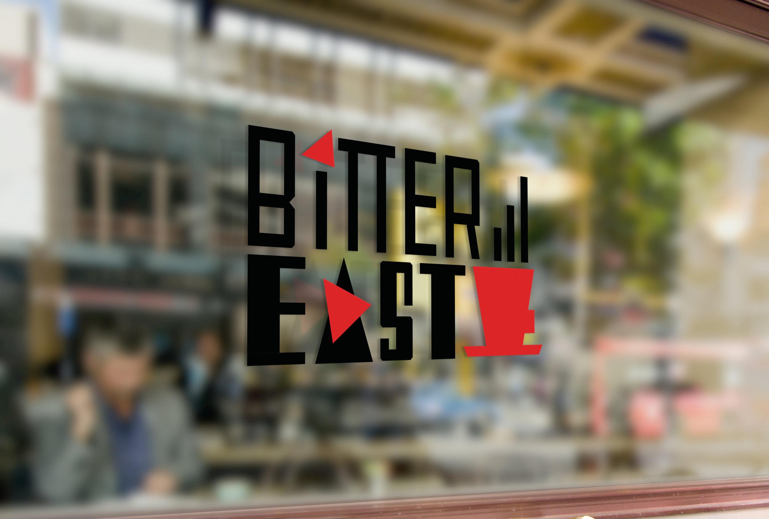 bitter east logo window coffee shop