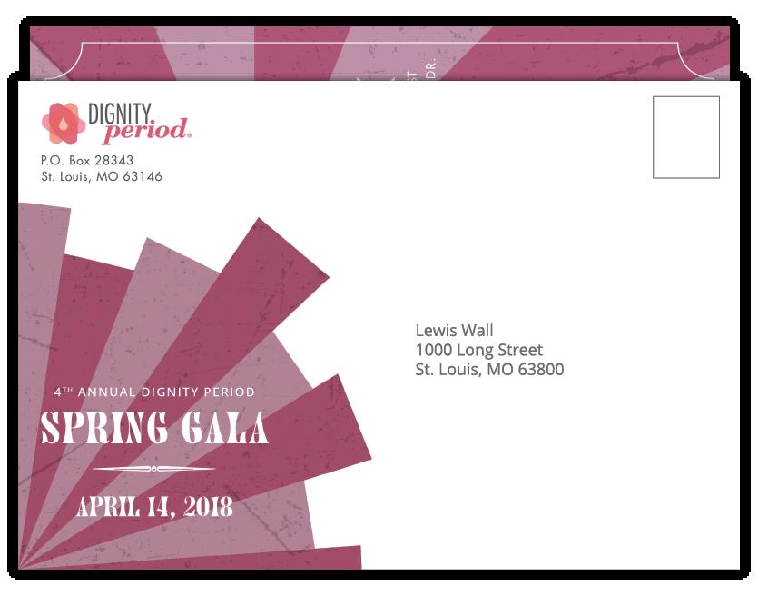 Dignity Period invitation envelope