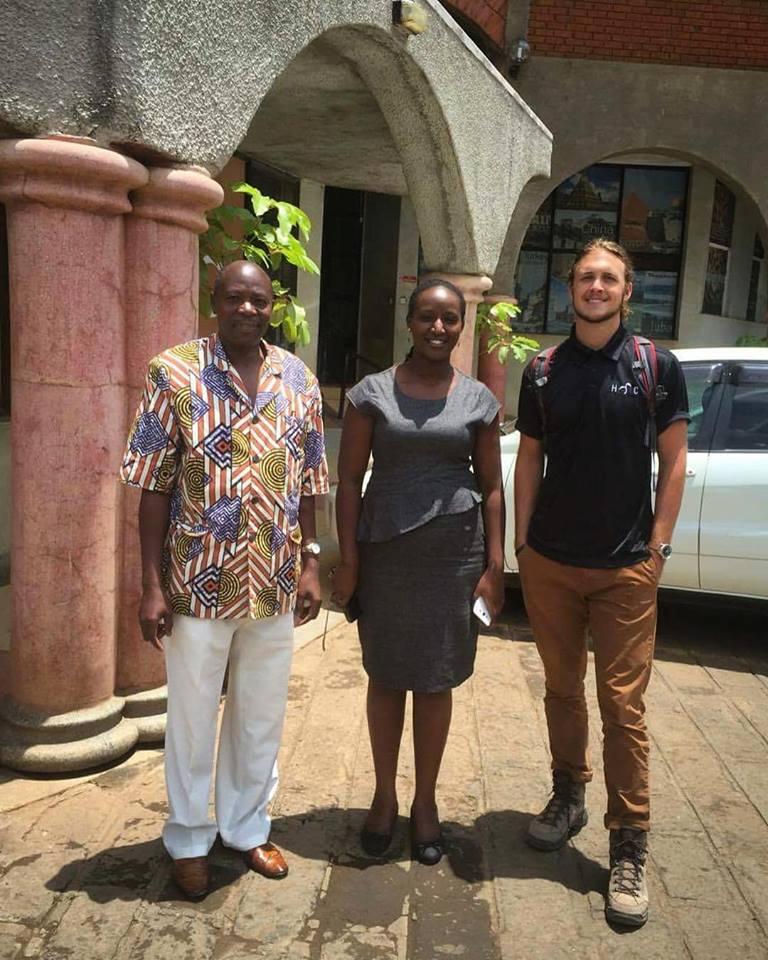 Geoff Bishop, CDO, visiting with some NGO leaders in Nairobi, Kenya.
