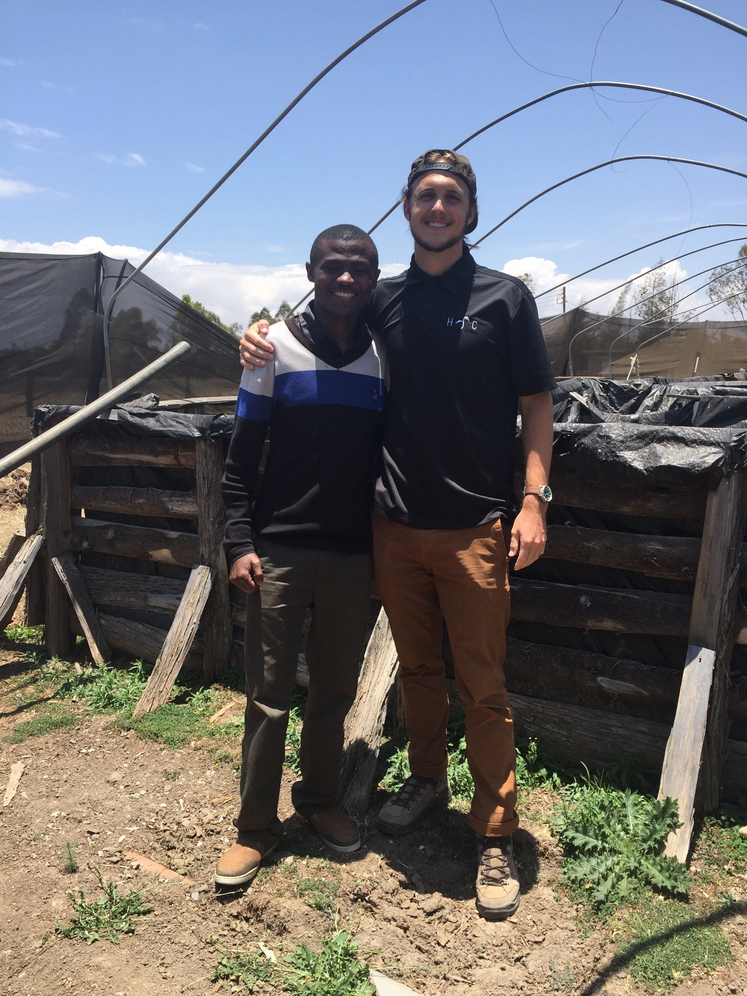 Geoff and Mavin, one of HC's community partners in Kenya.