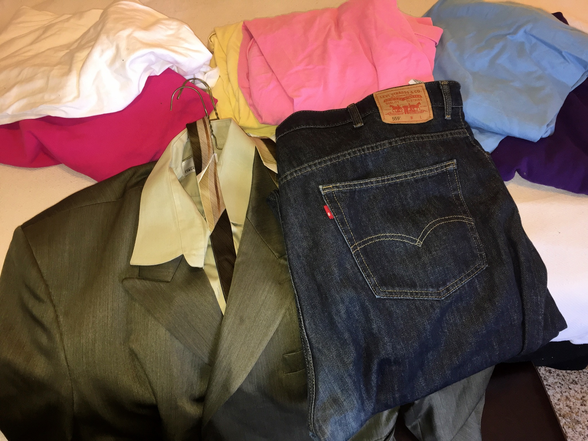 My closet spring cleaning donations