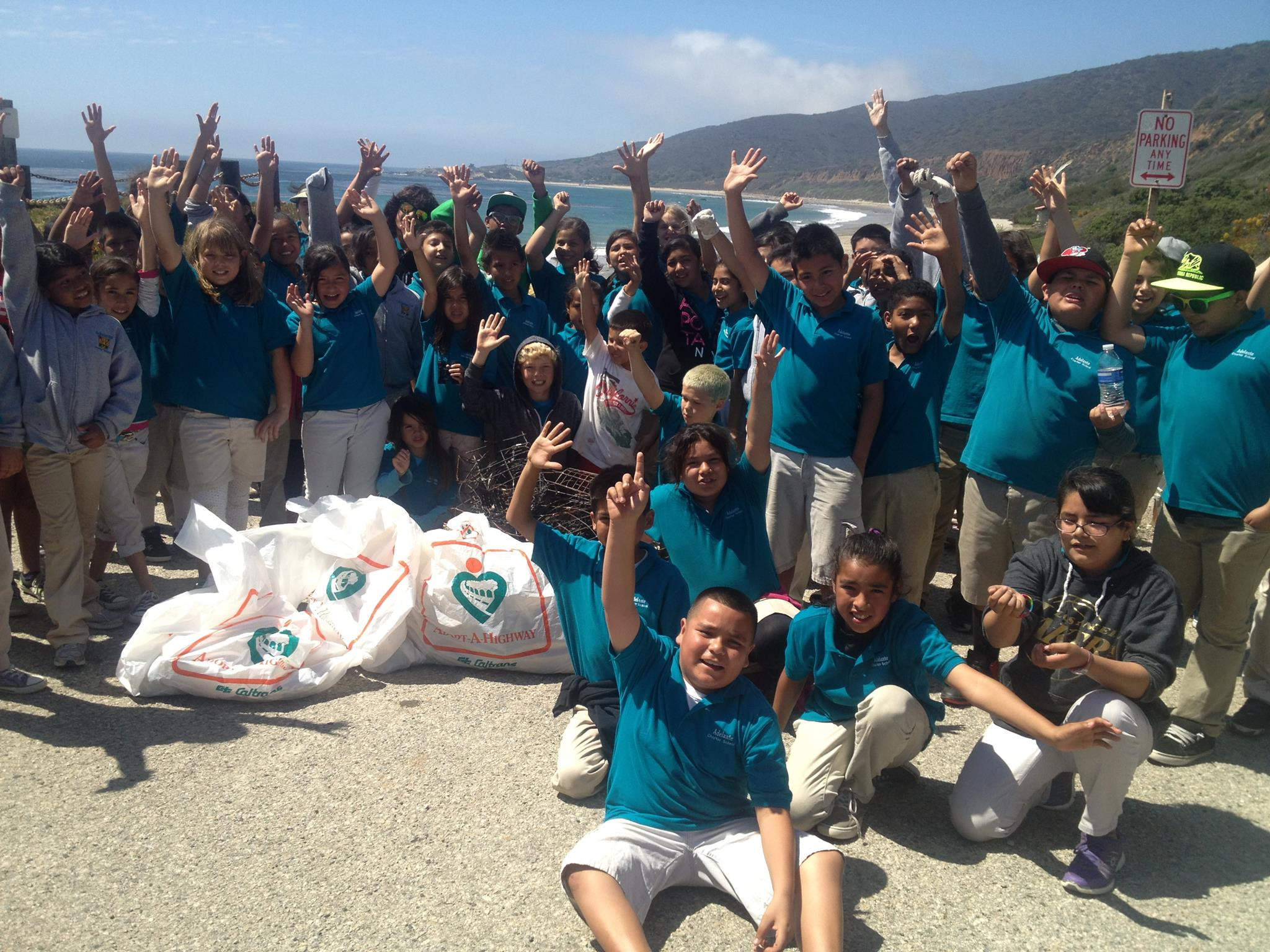 Adelante Students participating in their annual beach cleanup and CTMPA camp over!