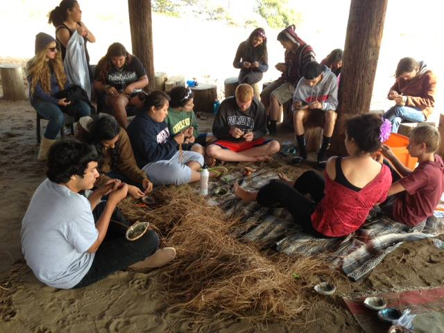 Students learn about the importance of Abalone to the Chumash.