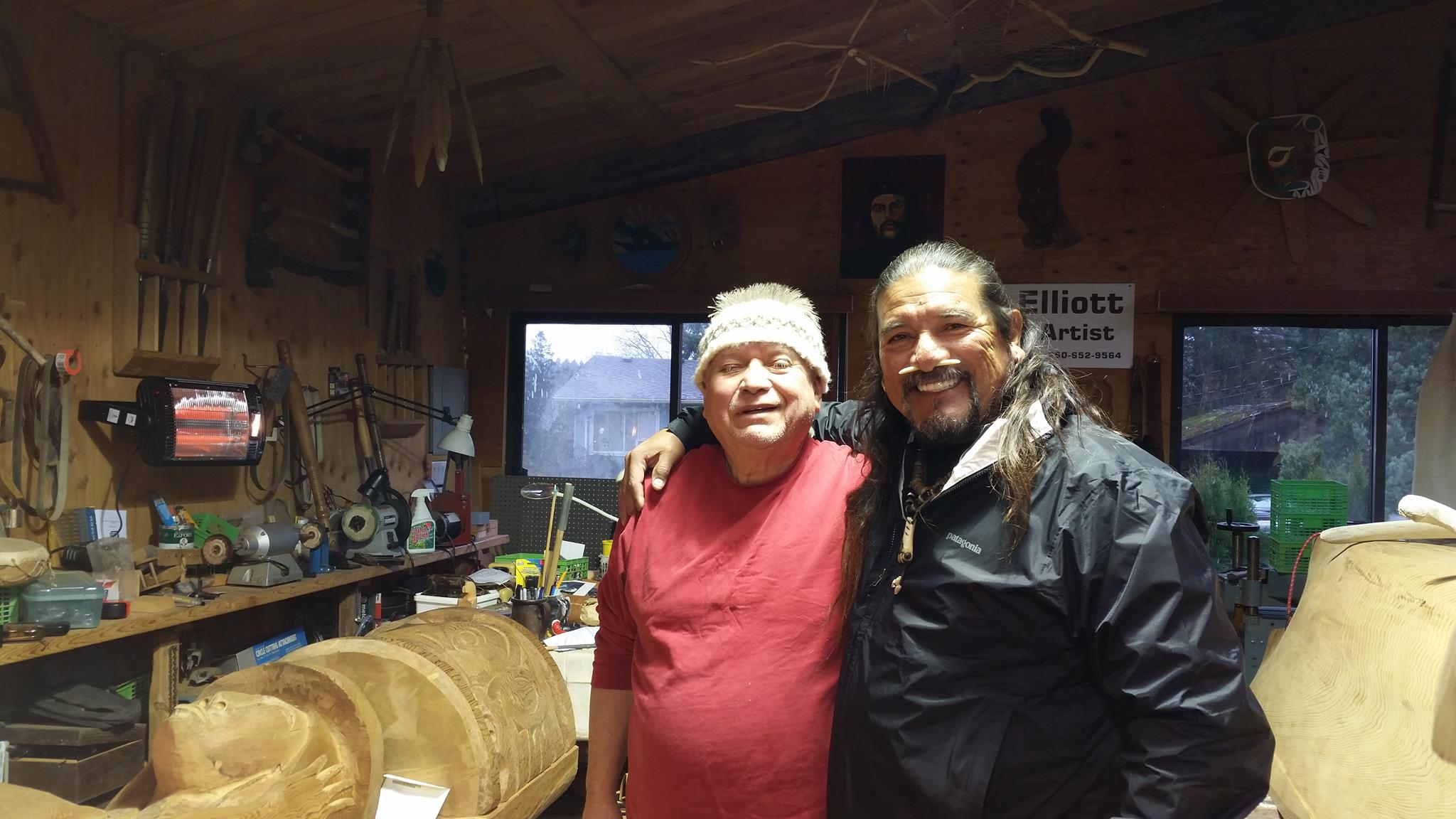 Coastal Salish Master Carver, Charles Elliot and Mati Waiya