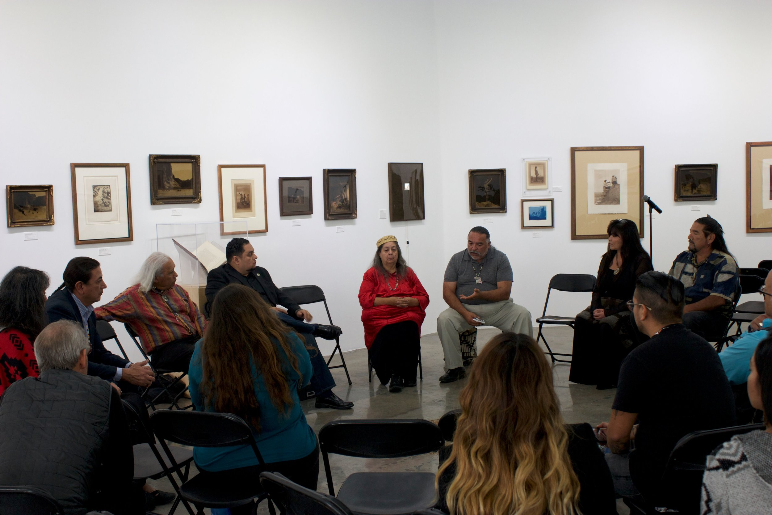 Local Native Leaders/Elders/Native Led Non-Profit Orgs private meeting with Chairman Dave Archambault II