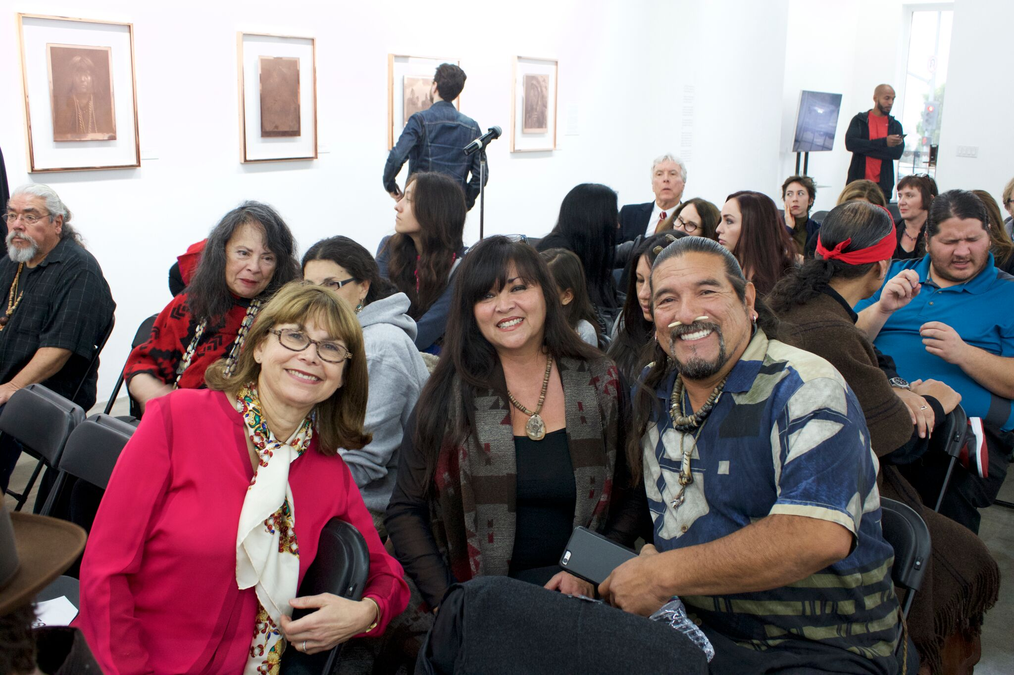 Wishtoyo Chumash Foundation President and UCLA Vice Chancellor, Carol Goldberg with Luhui Isha and Mati Waiya, Directors of Wishtoyo Chumash Foundation