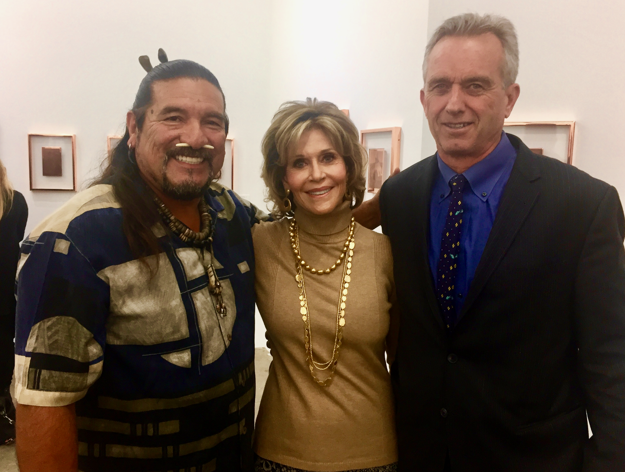 Mati Waiya, Jane Fonda and Robert Kennedy, Jr.