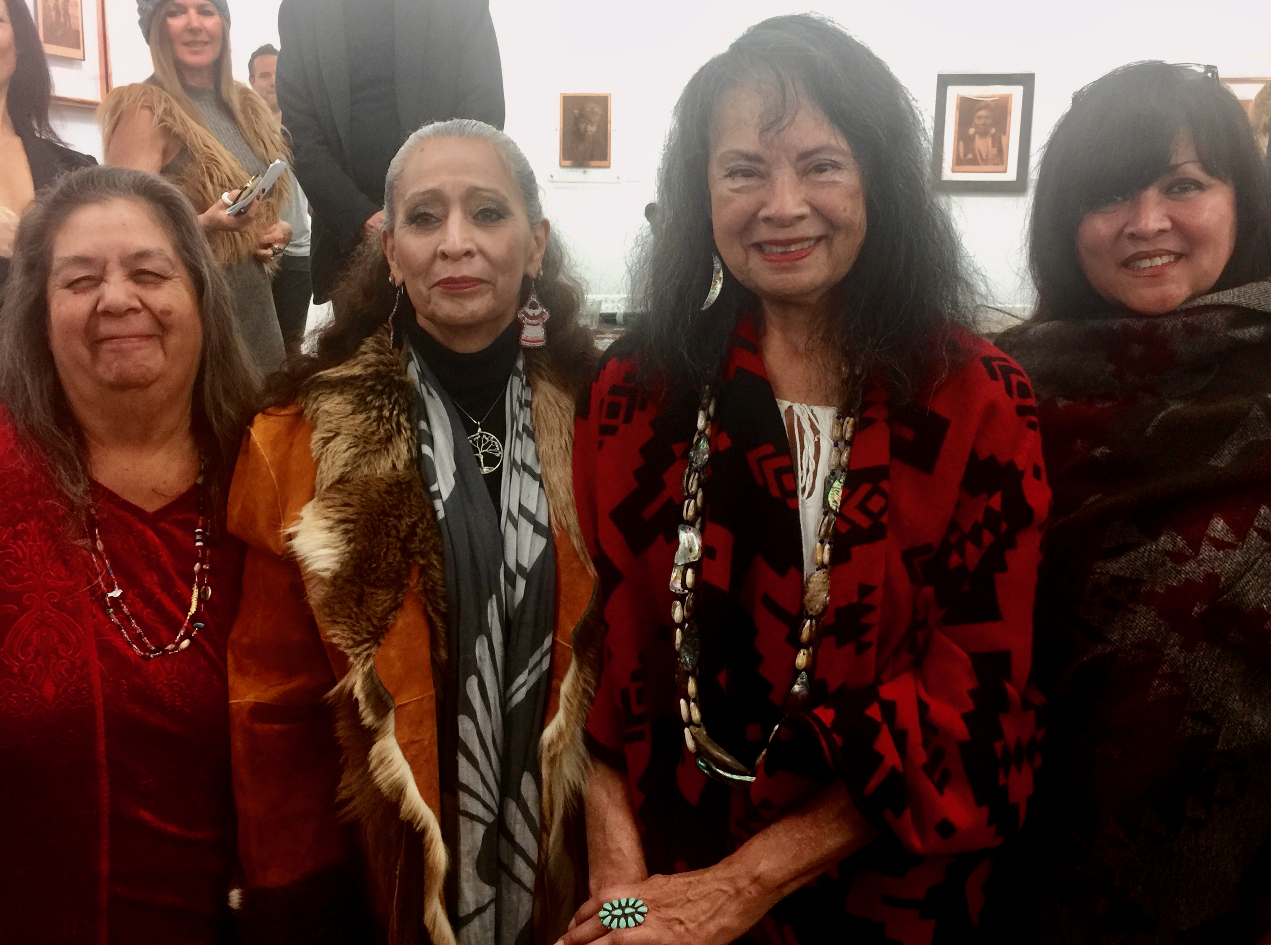 Julia Bogany Tongva Elder, LaDonna Brave Bull Allard Standing Rock Sioux Historian, Gloria Arrellanes Tongva Elder and Luhui Isha, Barbareno Chumash and Cultural Resources Director Wishtoyo Chumash Foundation