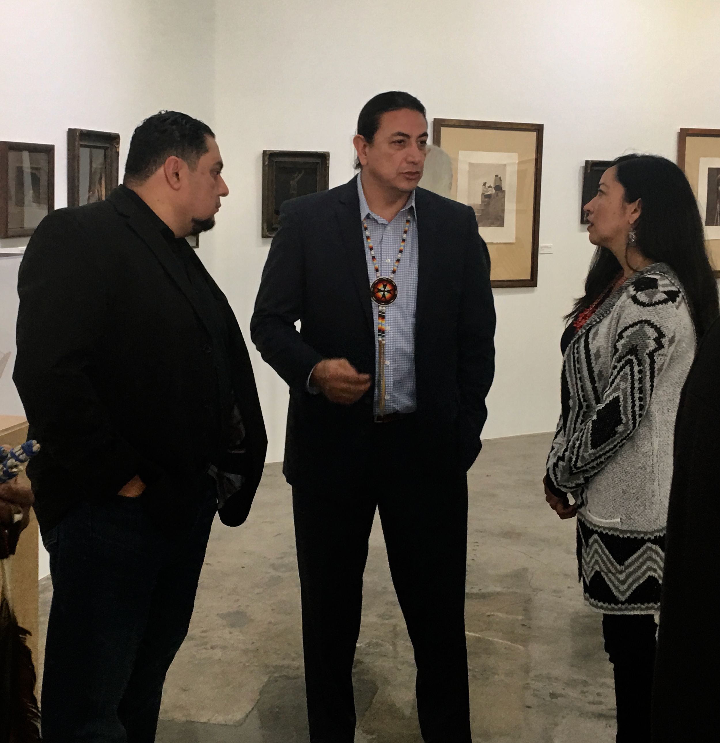 Fernandeño Tataviam Band of Mission Indians President Rudy Ortega, Jr., Chairman Dave Archambault, and Chrissie Castro, Vice Chair of the LA Native American Commission