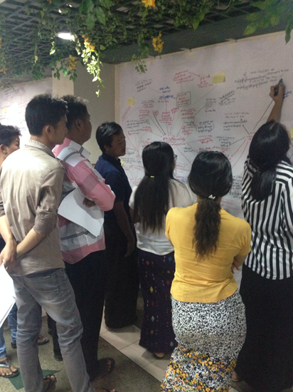 Participatory mapping with conflict-affected communities in Myanmar