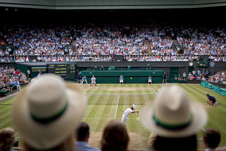 Federer vs. Zvrev  Wimbledon, Royal Box, Tennis