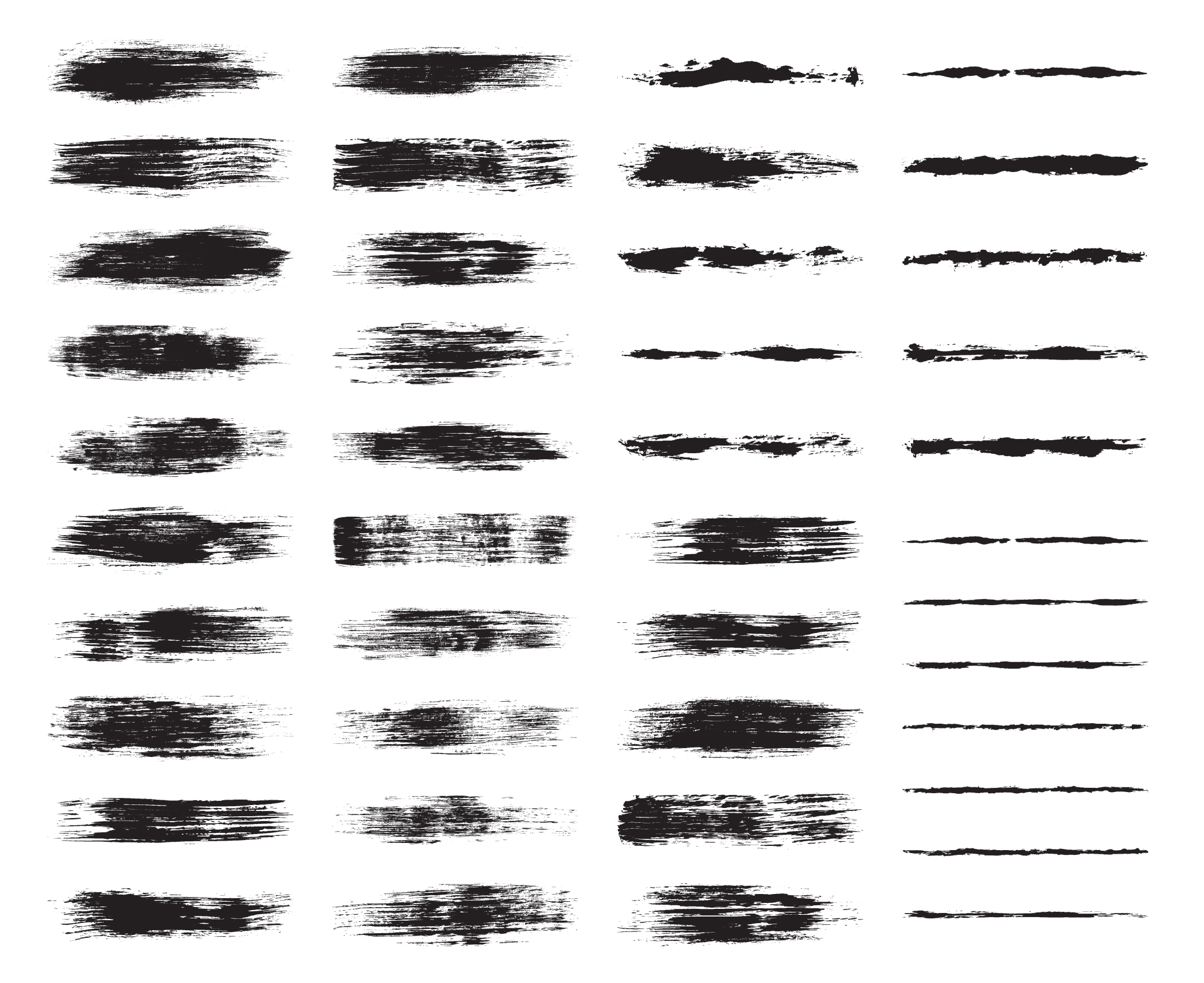Complete set of vector brushes.