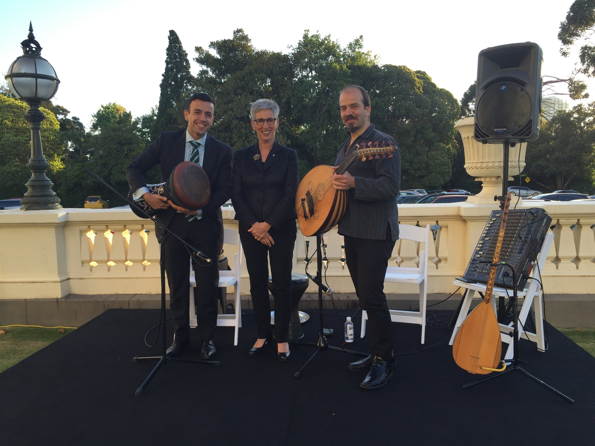 Performance at the Governor General's House, 2015.