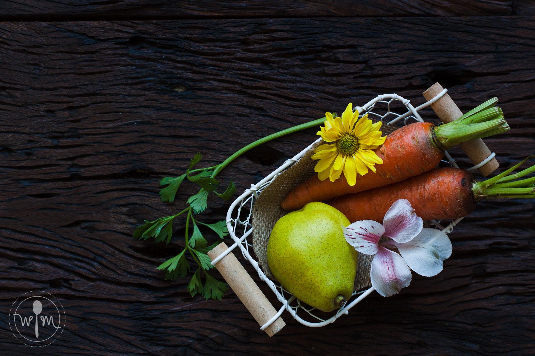 2/3 Carrots, 1/3 Pears