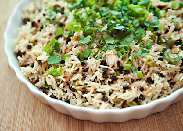 Almond and Currant Rice Salad