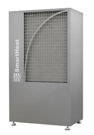 Vorderansicht der Wärmepumpe Thermselect