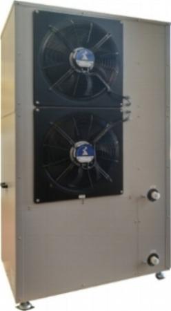 Rückansicht der Wärmepumpe ThermSelect