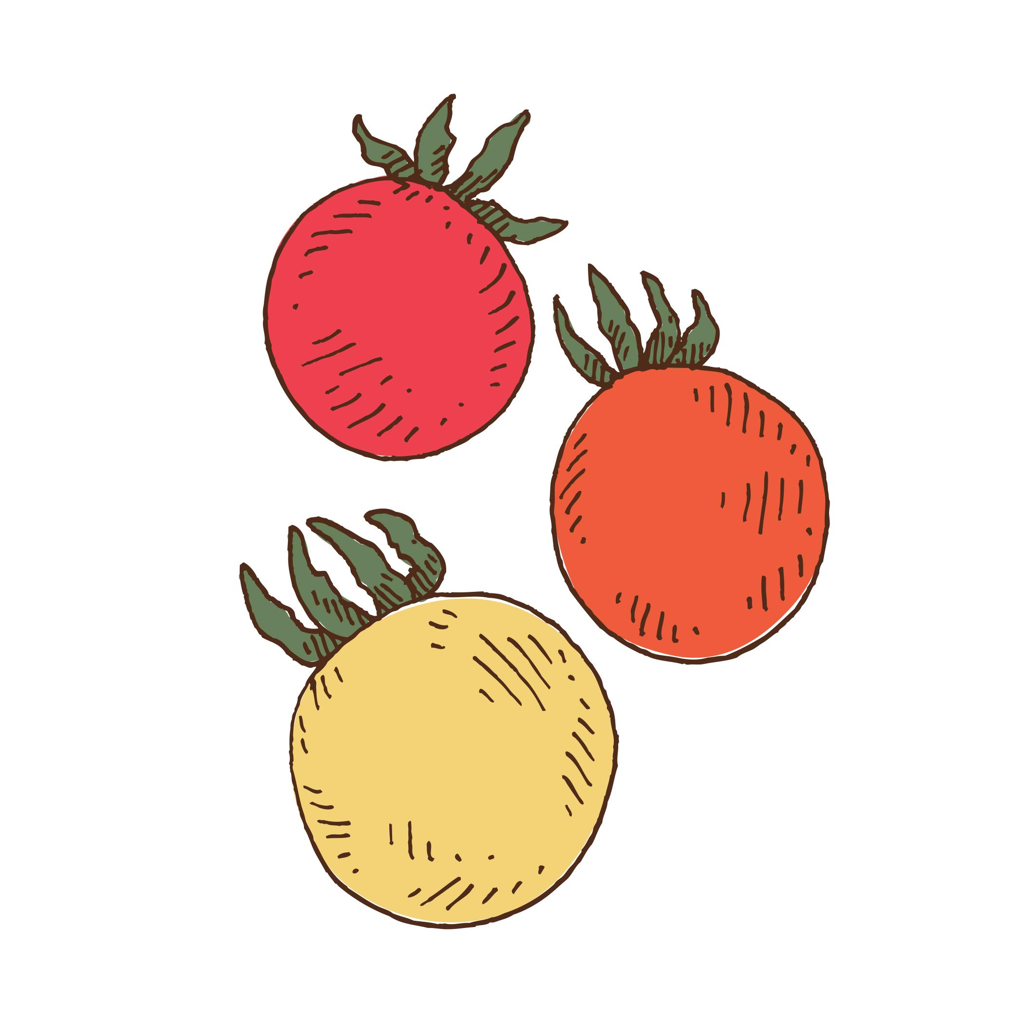 Tomatoes (three cherries)