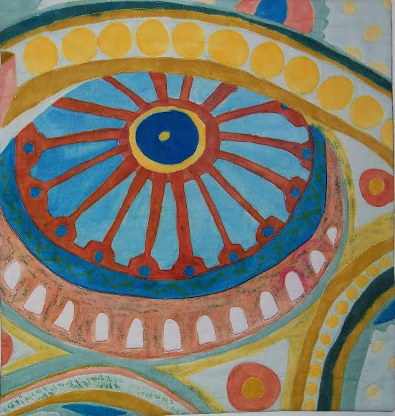 Ceiling View. Inspired by Jo's trip to Hagai Sophia in Instabul, 2011.