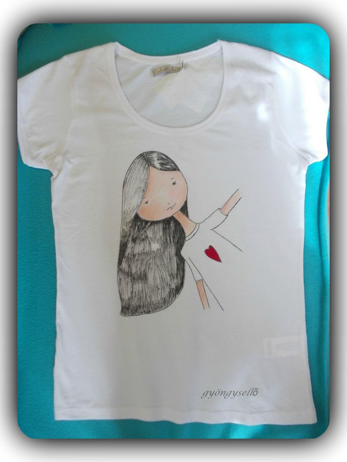 Egyedi rajzos póló (rajz by Tóth Kata)