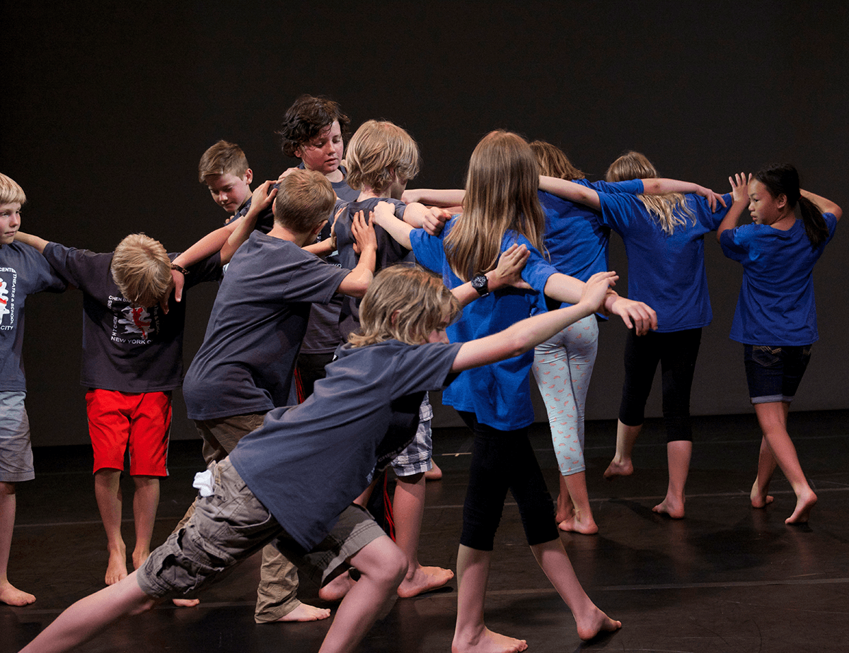 Students dance as part of a workshop lead by H.T. Chen, photo by Sally Cohn