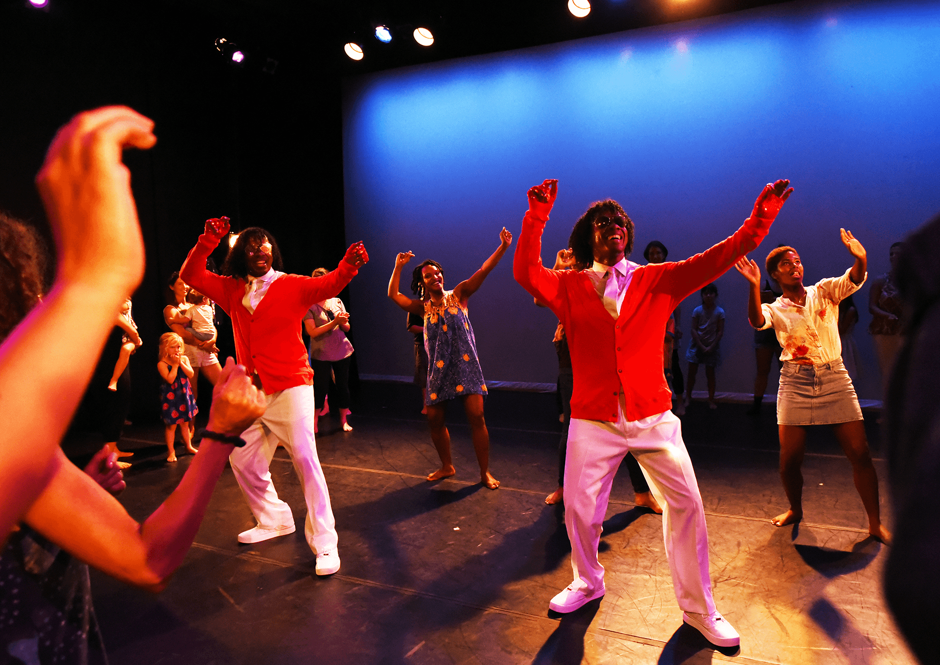 Quality Time! Family friendly Dance Party with The Wondertwins and Davalois Fearon, Photo by Heidi Wild