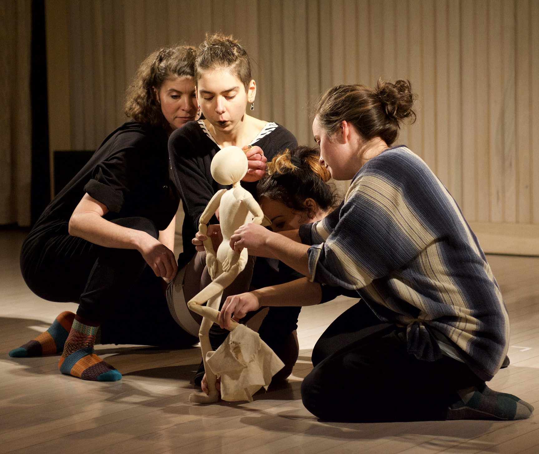 Puppetry Workshop with Sandglass Theater, Photo by Sally Cohn
