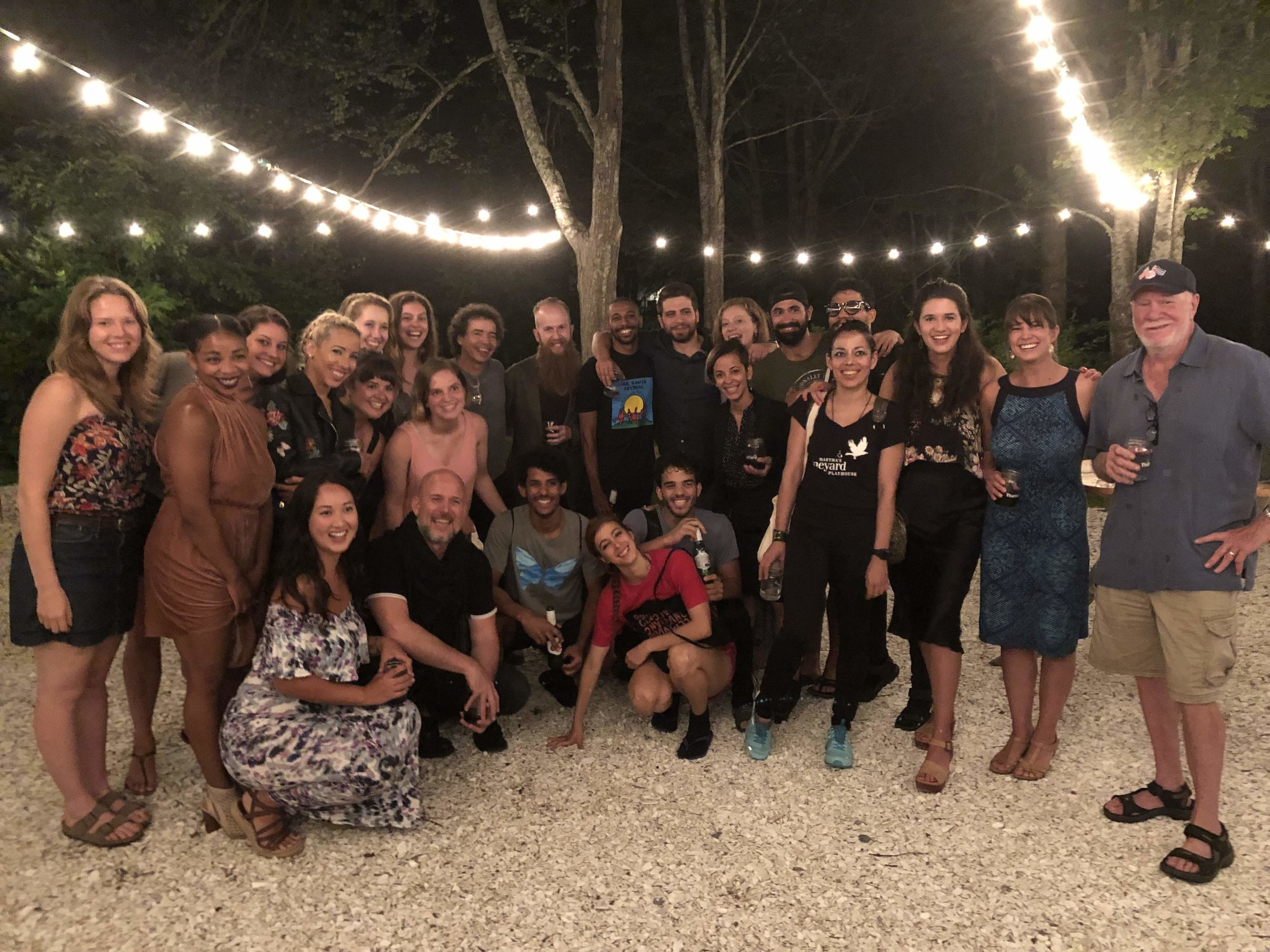 Malpaso Dance Company, Yard Staff and Interns, and Yard Board Members after Malpaso's August 3rd performance at The Yard. Photo by Amy Brenneman