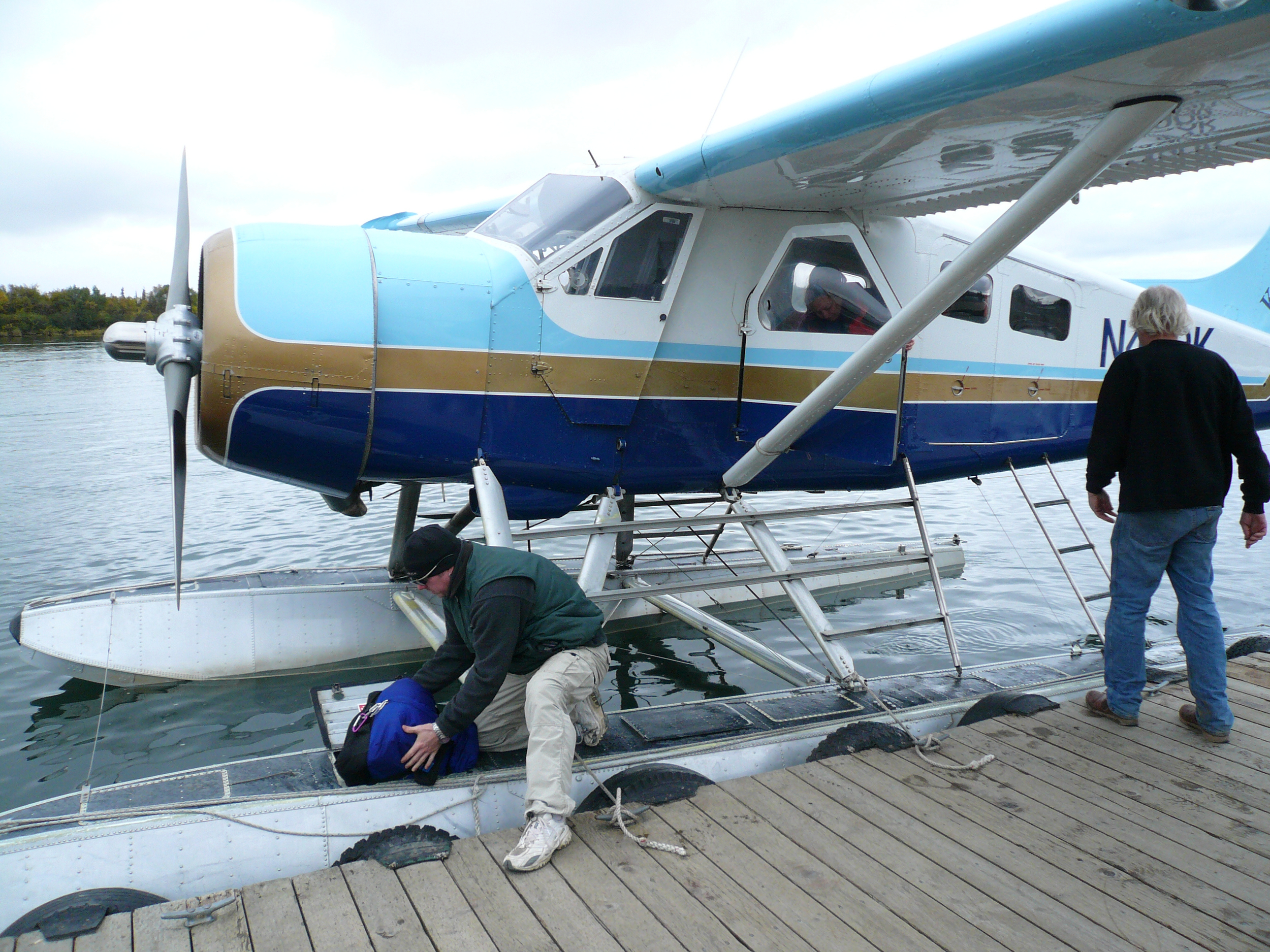 Gear storage for flight