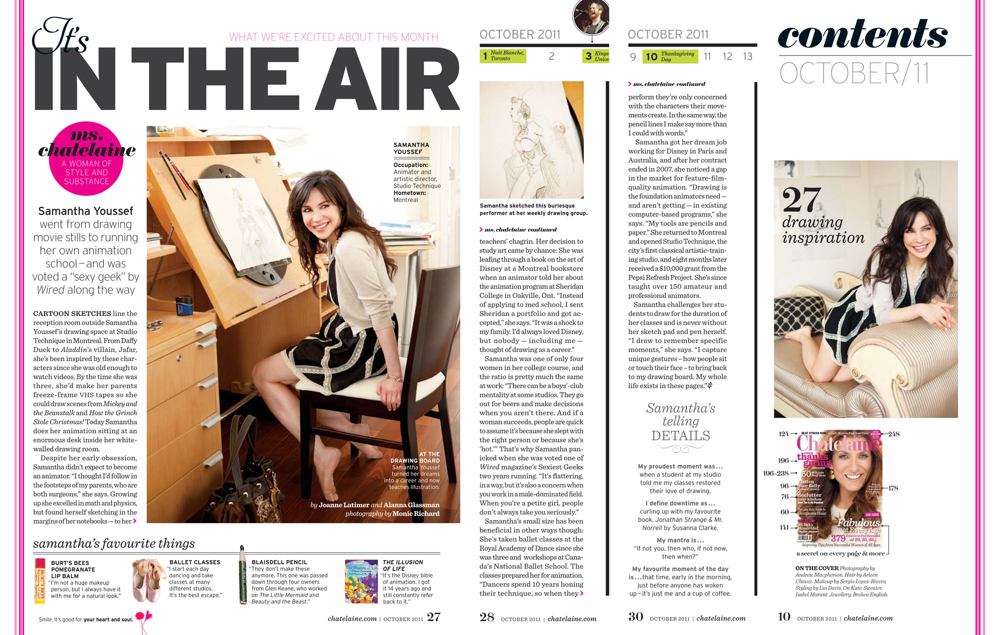 Samantha Youssef & Studio Technique featured in Chatelaine Magazine