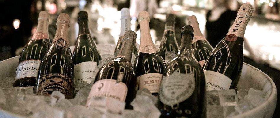 Champagne tasting bachelorette party pre-game