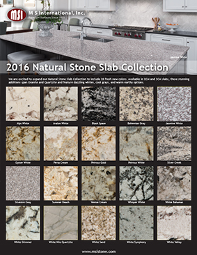 2016 NATURAL STONE COLLECTION