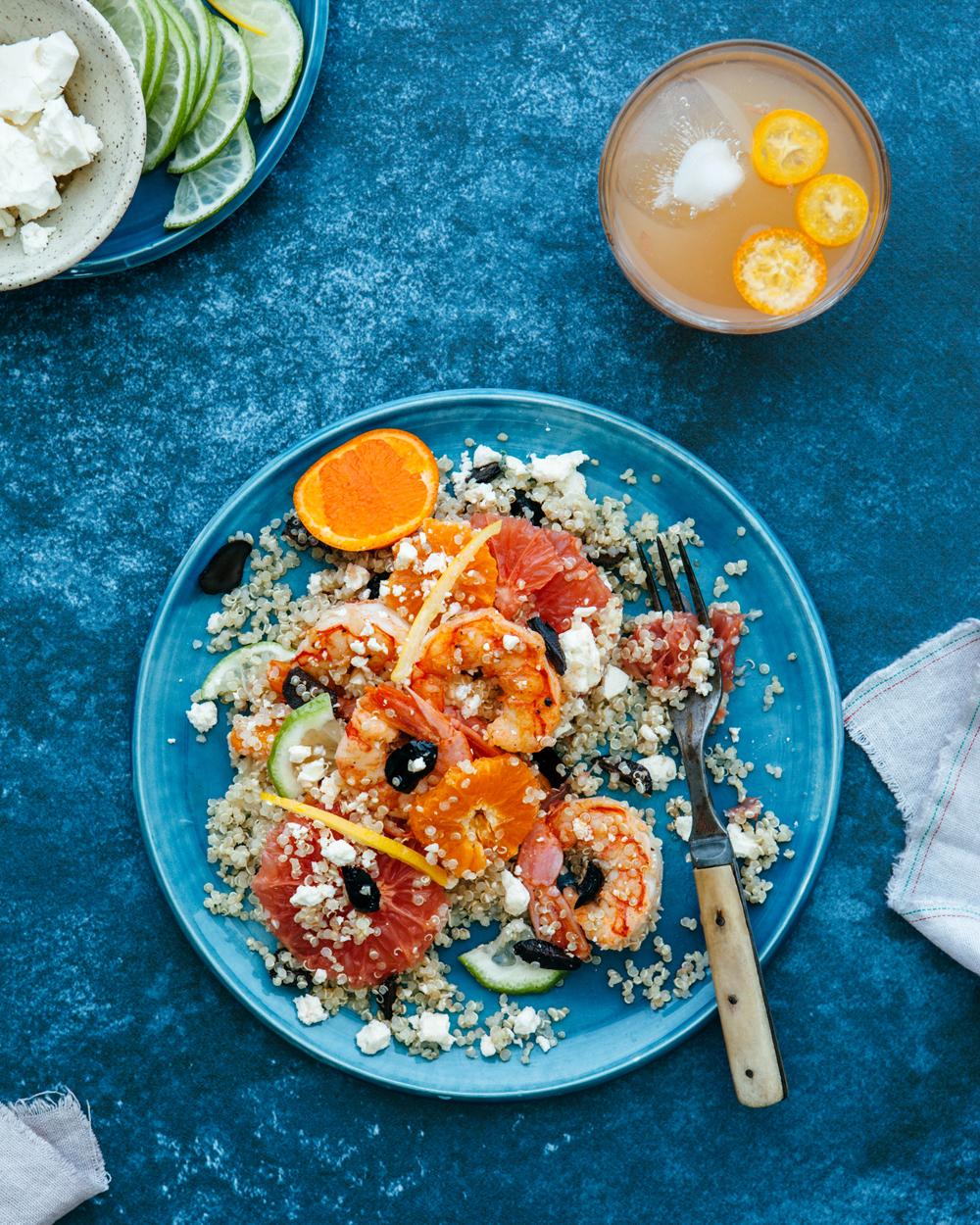 Citrus, Shrimp, and Quinoa Salad