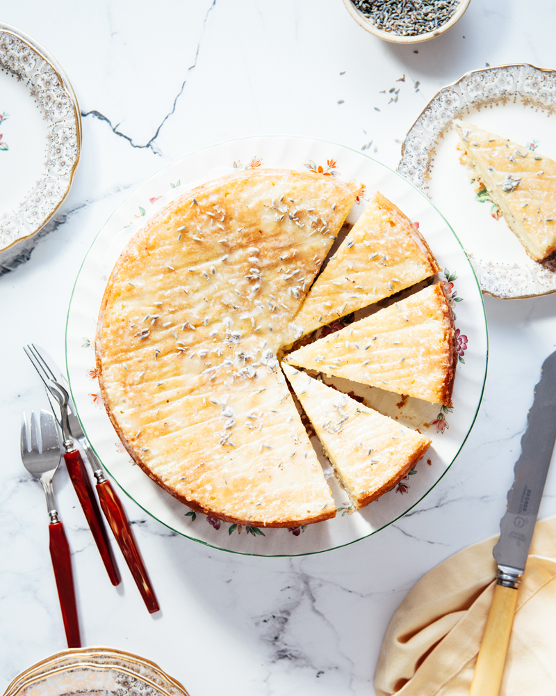 Lemon lavender cake plus 5 delicious things to make with dried lavender.
