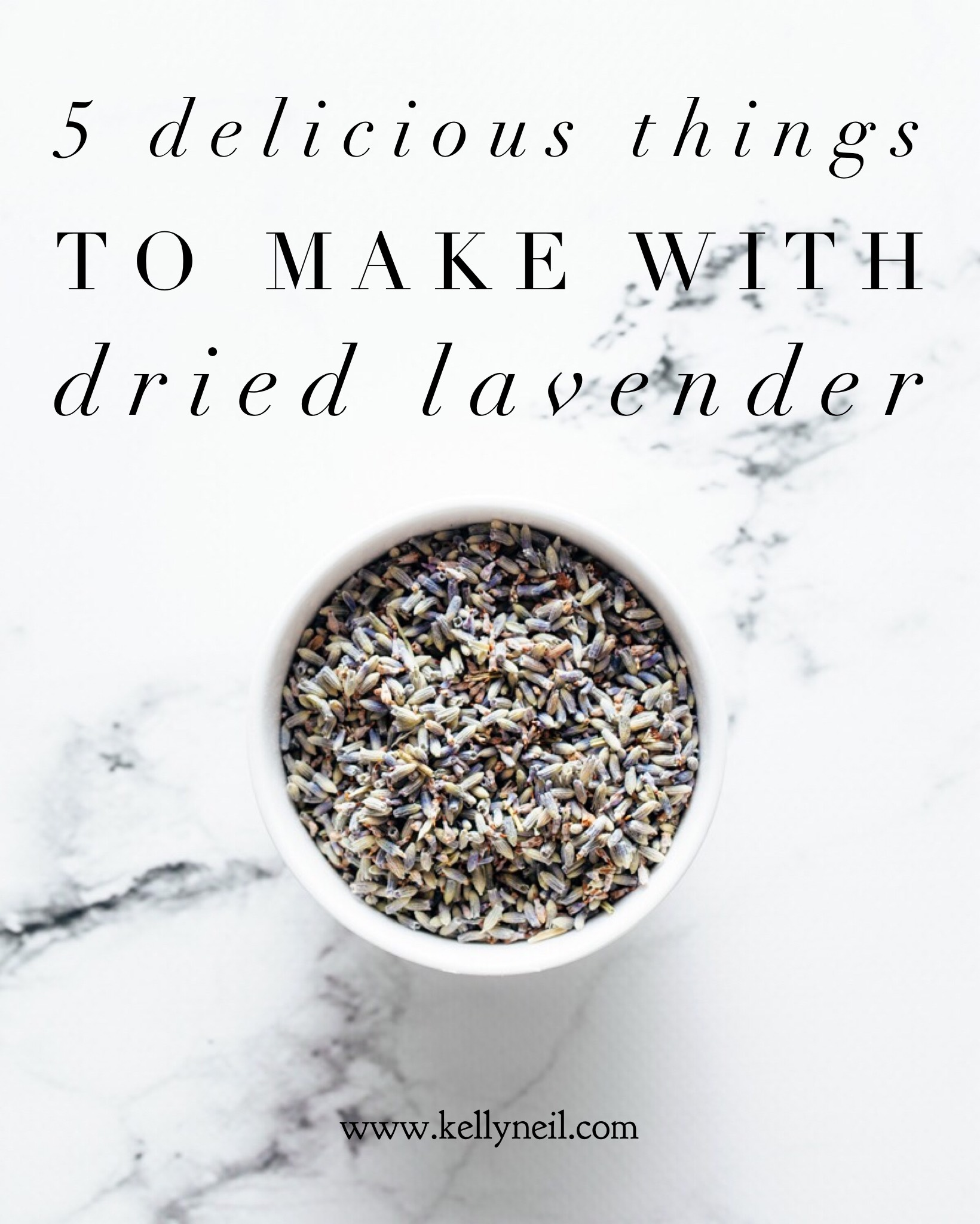 5 Delicious Things To Make WIth Dried Lavender