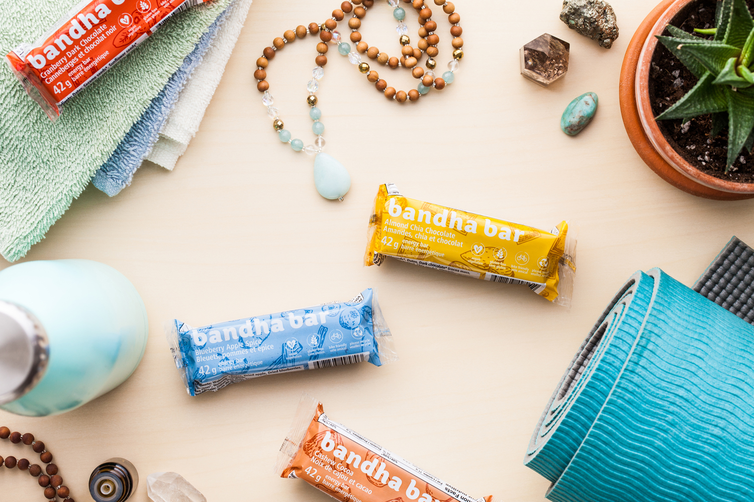 Client: Bandha Bars  Food styling:  Kathy Jollimore   Photography: Kelly Neil