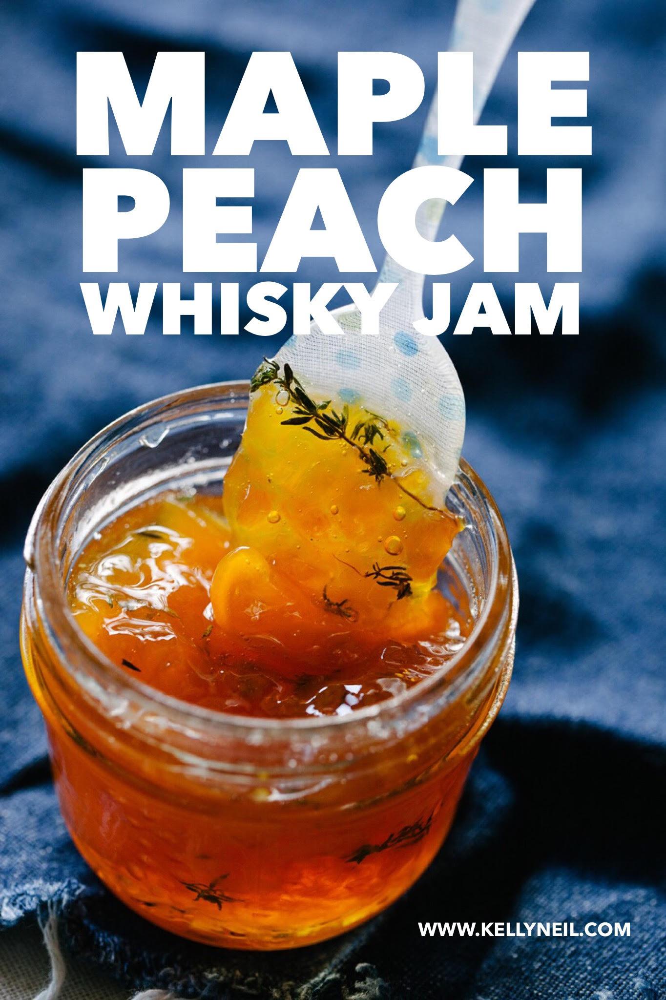 Small Batch Maple Peach Whisky Jam Recipe