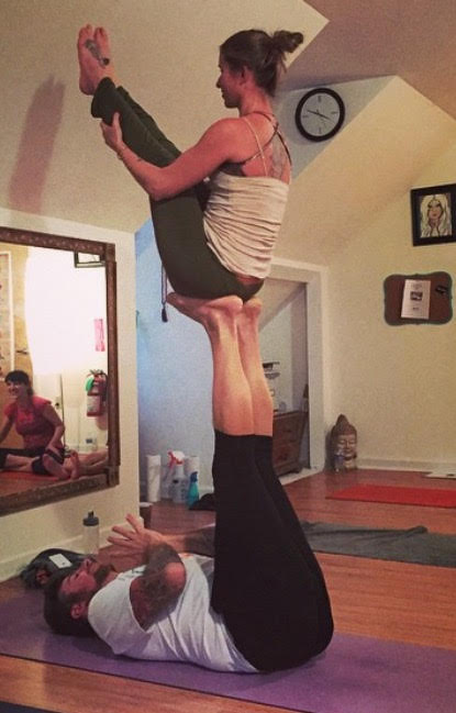 Acro yoga with kevin and jen