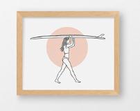 Meg Jacovino Surf Art