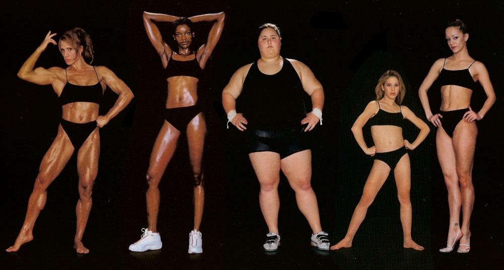 Bilde fra bokenAthlete avHoward Schatz - ulike atleter med ulike former