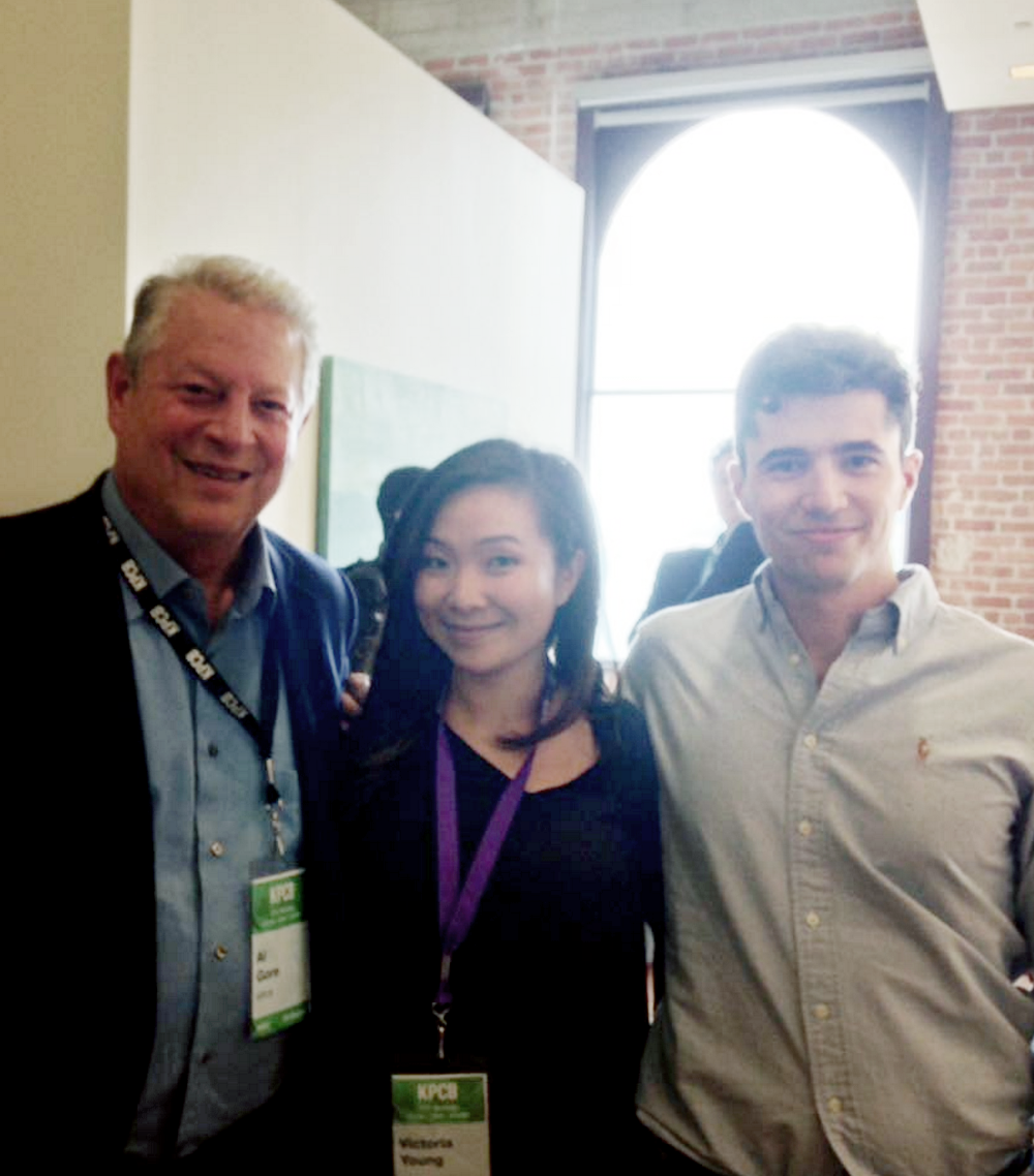 With Al Gore at the KPCB CEO Workshop