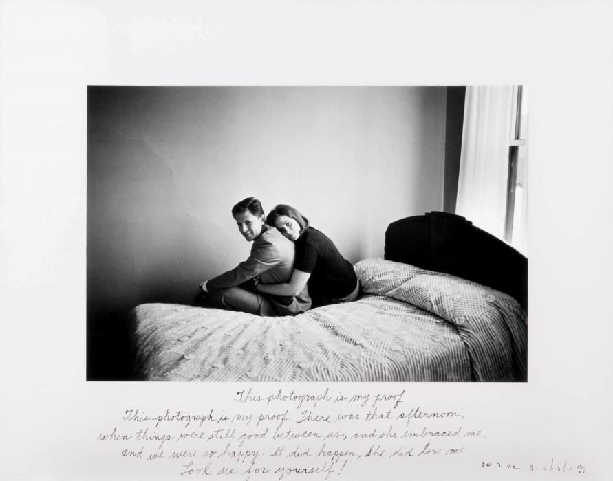 "Duane Michals.   ""This Photograph is My Proof, 1974."""