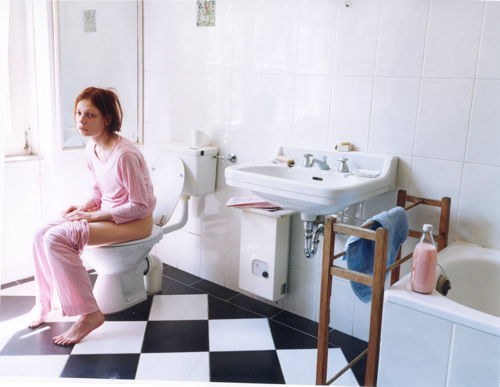 Aino's favourite image from her own photography  - Untitled (Bathroom) 1999, at the time before her first solo show when her career as an artist was just beginning.