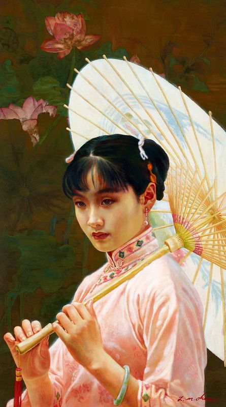 CHEN YIMING, 'The Paper Parasol',   oil on canvas