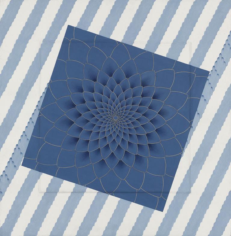 OLIVIA FRASER, 'Blue Himalaya',   Stone pigment and Arabic gum on handmade Sanganer paper, 2015