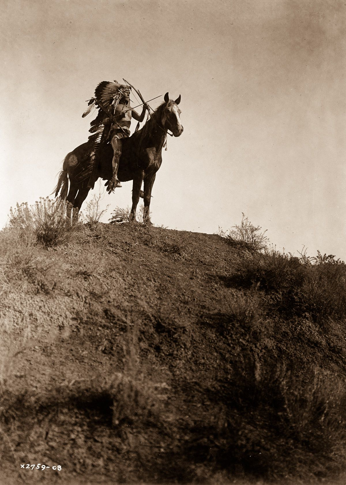 An Apsaroke man on horseback,  1908.  ©EDWARD S. CURTIS/LIBRARY OF CONGRESS