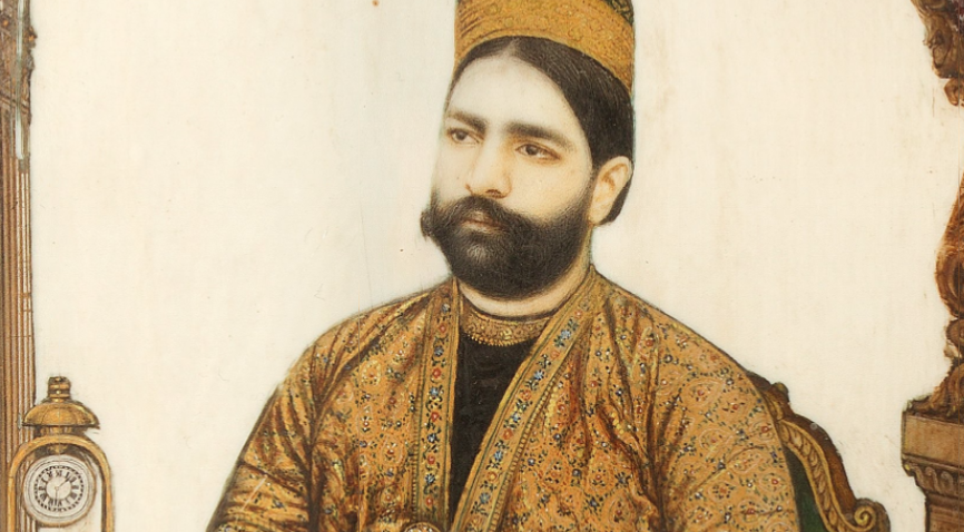 Close up of the portrait of Nawab Mumtaz Ali