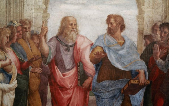PLATO and ARISTOTLE  'The School of Athens' by  RAPHAEL .