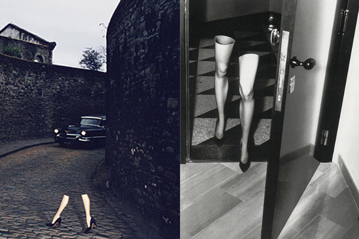 Left: ©Guy Bourdin  Right: ©Helmut Newton Foundation